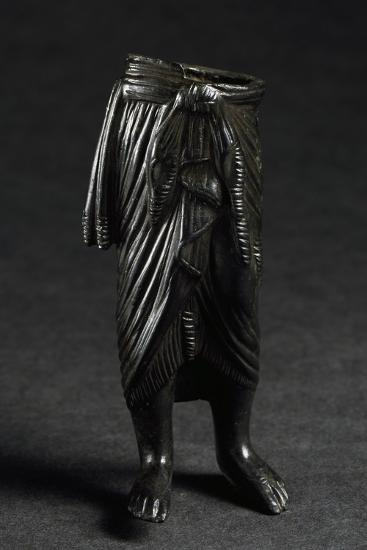 Bronze Figure with Draped Skirt--Giclee Print
