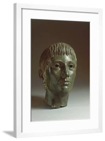 Bronze Head of a Youth, About 330 B.C.--Framed Giclee Print