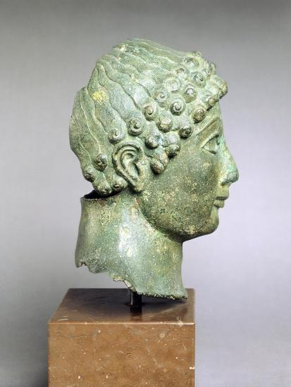 Bronze Head of a Youth, Side View, Bronze from Ariccia--Giclee Print
