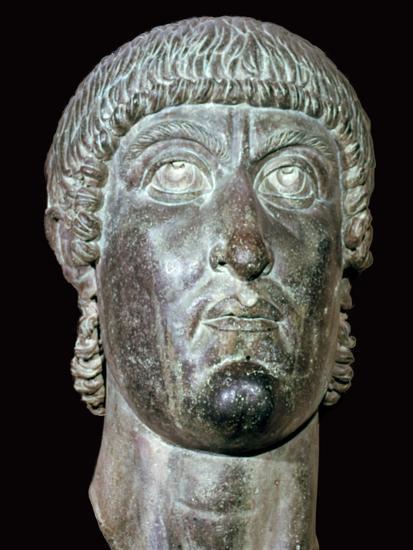 Bronze head of Constantine I, 3rd century BC. Artist: Unknown-Unknown-Giclee Print