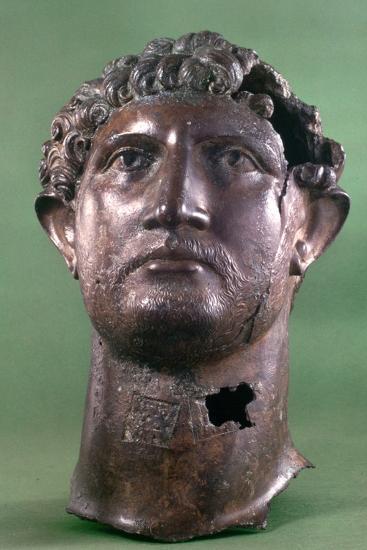 Bronze Head of the Emperor Hadrian, 2nd Century Ad--Photographic Print