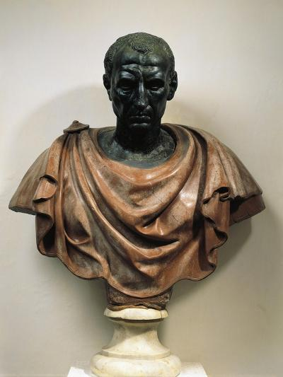 Bronze Head with Marble Bust of Julius Caesar--Giclee Print