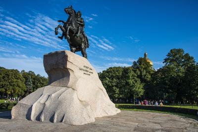 Bronze Horseman Statue in St. Petersburg, Russia, Europe-Michael Runkel-Photographic Print