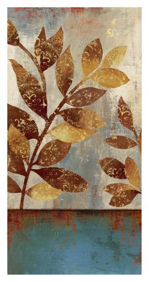 Bronze leaves II-Asia Jensen-Art Print