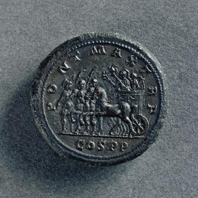 Bronze Macedonian Coin Depicting Philip II of Macedonia on Chariot, Greek Coins--Giclee Print