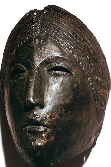 Bronze mask of the Roman goddess Juno Lucina. Artist: Unknown-Unknown-Giclee Print