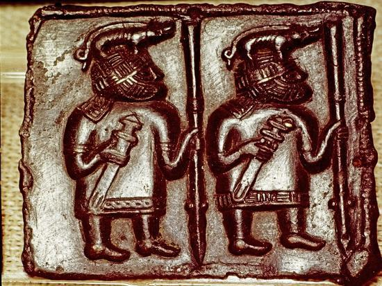 Bronze Matrix for making decorative peaques for helmets, 8th century-Unknown-Giclee Print