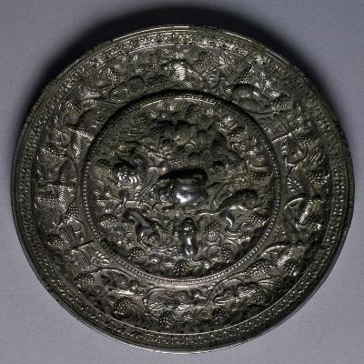 Bronze Mirror, China, Tang Dynasty, 7th-10th Century--Giclee Print
