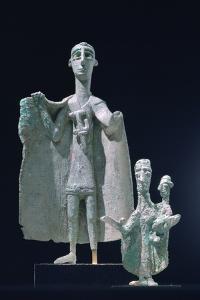 Bronze Mother and Child Statutes, Nuragici Culture, Siniscola, Sardinia, 9th-6th Century BC