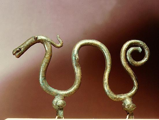 Bronze ornament in the shape of a serpent-Werner Forman-Giclee Print