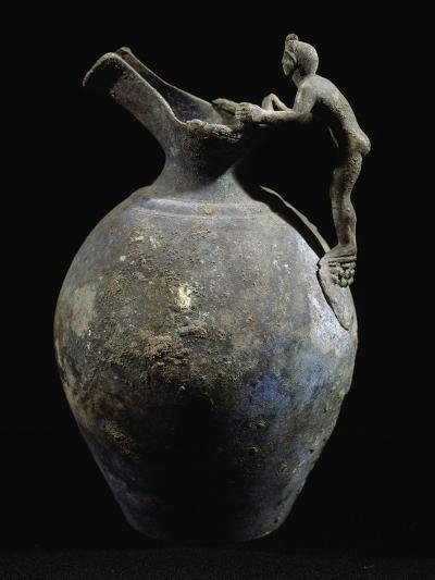 Bronze Pitcher with Anthropomorphic Handle, from Pompeii, Campania, Italy--Giclee Print
