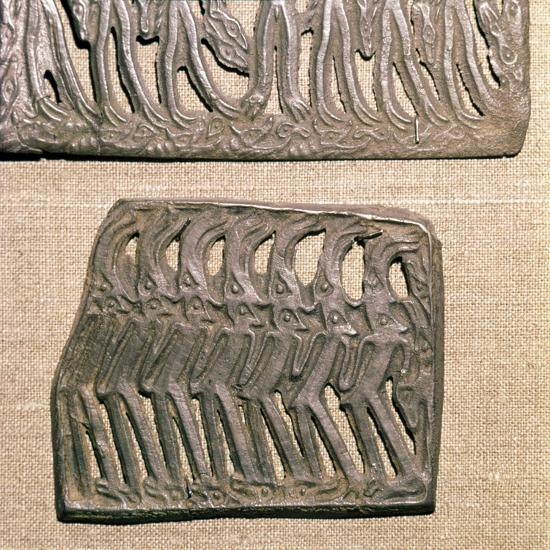 Bronze Plaque from Kama River area, relating to Shamanism, 3rd century BC-8th century-Unknown-Giclee Print