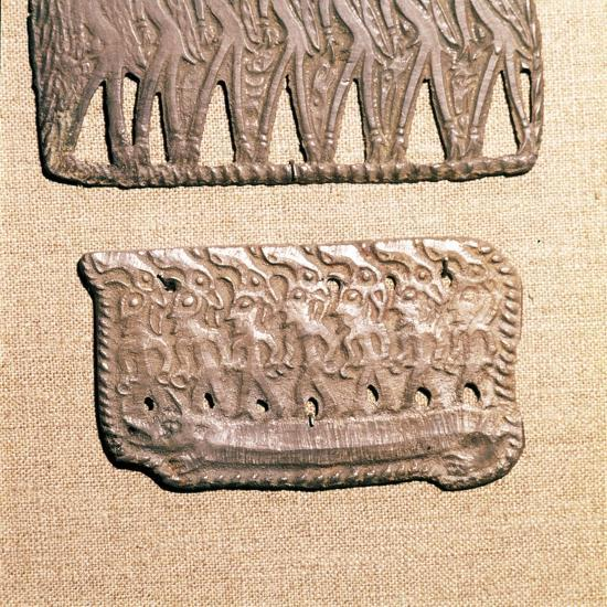 Bronze Plaque from Kama River Tribes, USSR, 3rd century BC-8th century-Unknown-Giclee Print