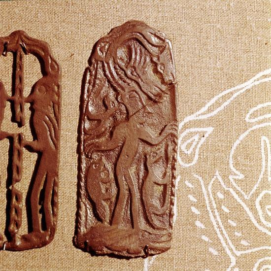 Bronze Plaque, Kama River Tribes, USSR, 3rd century BC-8th century-Unknown-Giclee Print