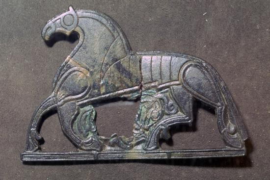 Bronze plaque of a horse, 5th-9th century.-Unknown-Giclee Print