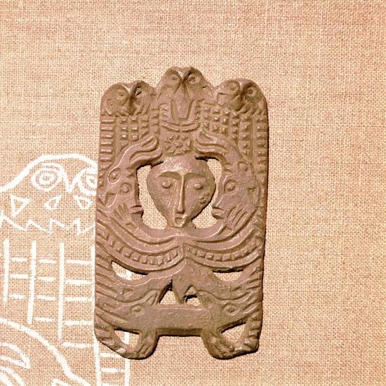 Bronze Plaque related to Shamanism and Magic, Kama River Area, USSR, 3rd century BC-8th century-Unknown-Giclee Print