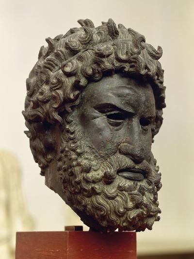 Bronze Portrait Head of Boxer Satyros of Elis--Giclee Print