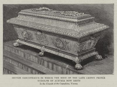 Bronze Sarcophagus in Which the Body of the Late Crown Prince Rudolph of Austria Now Rests--Giclee Print