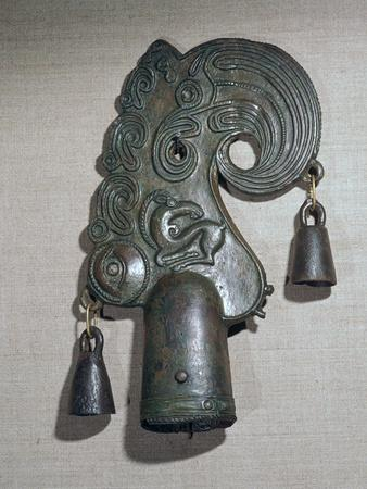 Bronze Scythian pole-top in the early style with later developments. Artist: Unknown-Unknown-Framed Giclee Print