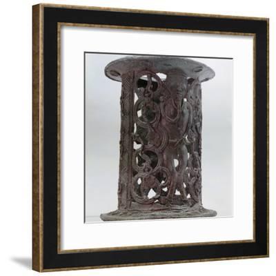 Bronze stand, Igbo Ukwu, Nigeria, 9th century-Werner Forman-Framed Photographic Print