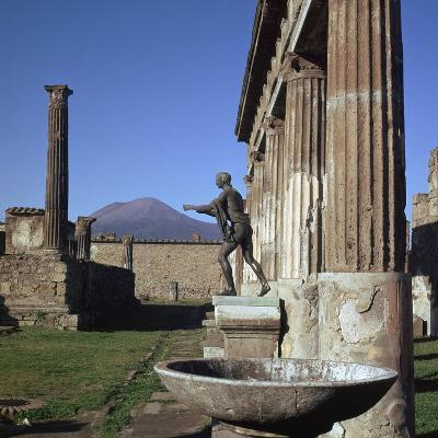 Bronze Statue at Temple of Apollo in Pompeii, 1st Century-CM Dixon-Photographic Print