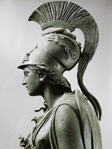 Bronze Statue of Athena with Crest, Detail, Head