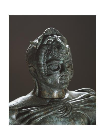 Bronze Statue of Hercules in Battle, Detail, from the Sanctuary of Villa Cassarini--Giclee Print