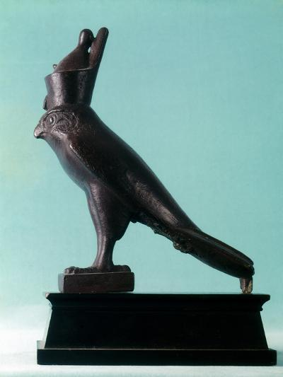 Bronze Statue of the Egyptian God Horus, 26th (Sait) Dynasty, Ancient Egypt, 664-525Bc--Photographic Print