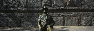 Bronze Statue of the Former Us President, Franklin Delano Roosevelt Memorial, Washington Dc, USA