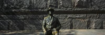 Bronze Statue of the Former Us President, Franklin Delano Roosevelt Memorial, Washington Dc, USA--Photographic Print
