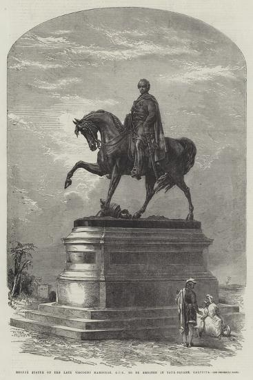 Bronze Statue of the Late Viscount Hardinge, Gcb, to Be Erected in Tank-Square, Calcutta--Giclee Print