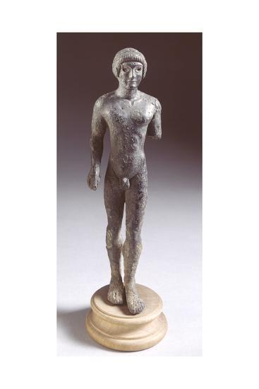 Bronze Statuette Depicting a Kouros, Front View, 480-460 BC--Giclee Print