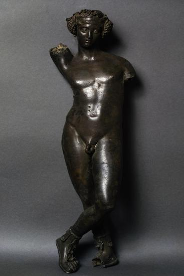 Bronze Statuette of Bacchus, Front View--Giclee Print