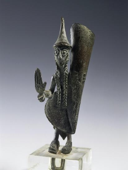 Bronze Statuette of Priest, from the Necropolis of Cavalupo at Vulci--Giclee Print