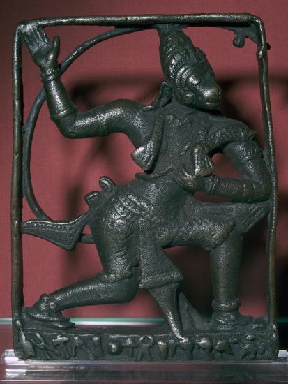 Bronze statuette of the god Hanuman, 11th century. Artist: Unknown-Unknown-Giclee Print