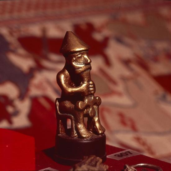 Bronze statuette of Thor, Viking God, c1000-Unknown-Giclee Print