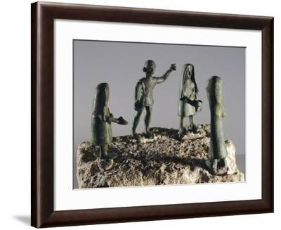 Bronze Statuettes Depicting Four Devotees, from Este--Framed Giclee Print