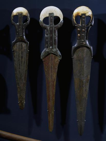 Bronze Swords and Daggers, with Electron Blades, Ivory Handles and Copper Nails--Giclee Print
