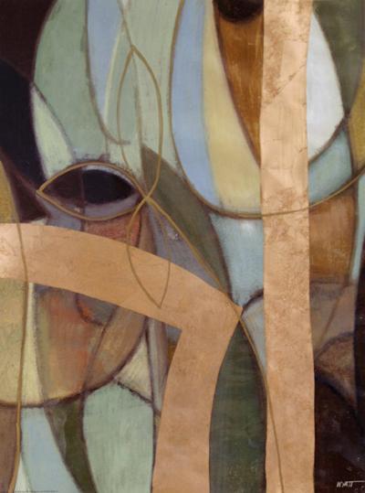 Bronzed Whimsey I--Art Print