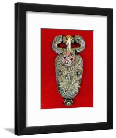 Brooch in the early Vendel style-Werner Forman-Framed Giclee Print