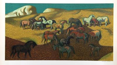 Brood Mare Pasture-Millard Owen Sheets-Collectable Print