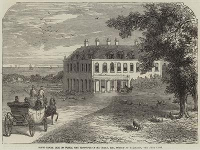 Brook House, Isle of Wight, the Residence of Mr Seely, Mp, Visited by Garibaldi-John Jessop Hardwick-Giclee Print
