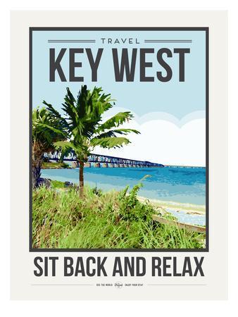 Travel Poster Keywest