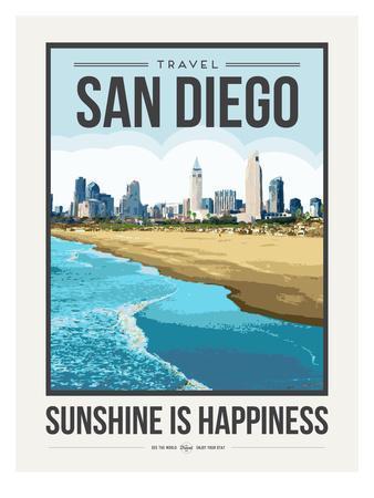 Travel Poster San Diego