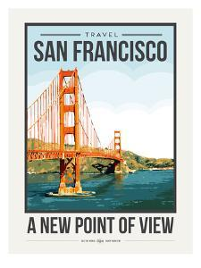 Travel Poster San Francisco by Brooke Witt