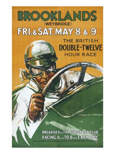 Brooklands Race Poster--Giclee Print