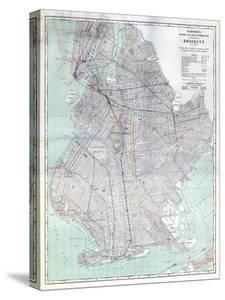 Brooklyn 1920 Transit Map