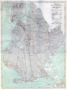 Brooklyn 1920 Transit Map