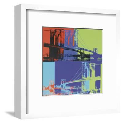 Brooklyn Bridge, 1983 (orange, blue, lime)-Andy Warhol-Framed Art Print