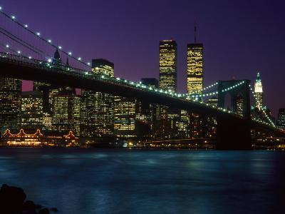 Brooklyn Bridge and Lower Manhattan, NY-Rudi Von Briel-Photographic Print